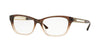 Versace VE3220 Cat Eye Eyeglasses  5165-BROWN/LT BROWN TRANSP 54-16-140 - Color Map brown