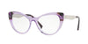 Versace VE3244 Cat Eye Eyeglasses  5240-TRANSP VIOLET/VIOLET HAVANA 53-17-140 - Color Map violet