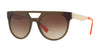 Versace VE4339 Round Sunglasses  523513-TRANSPARENT GREEN/ORANGE 55-20-145 - Color Map green