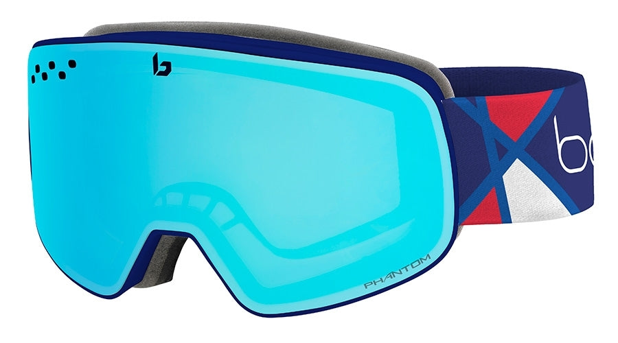 BOLLE NEVADA GOGGLES  ALEXIS PINTURAULT SIGNATURE SERIES PHANTOM VERMILLION BLUE One Size
