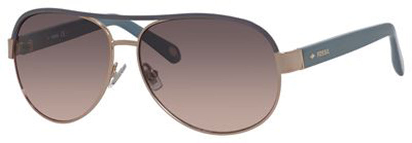 FOSSIL Fos 3039/S Sunglasses 0CU2-ROSE GOLD GRAY WC Polycarbonate