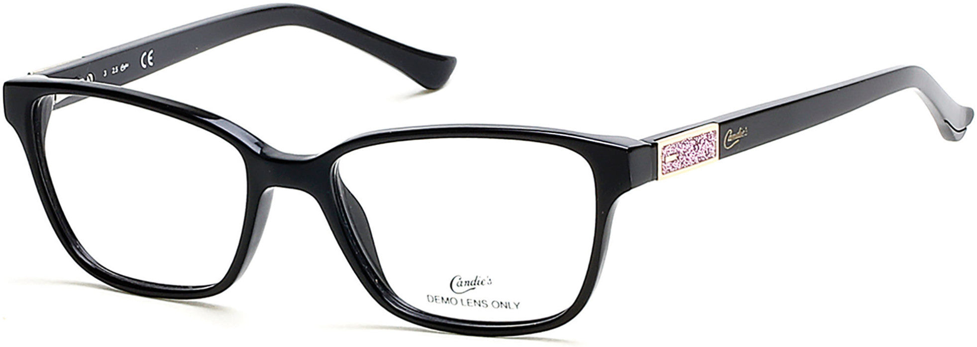 Candies CA0129 Geometric Eyeglasses 005-005 - Black