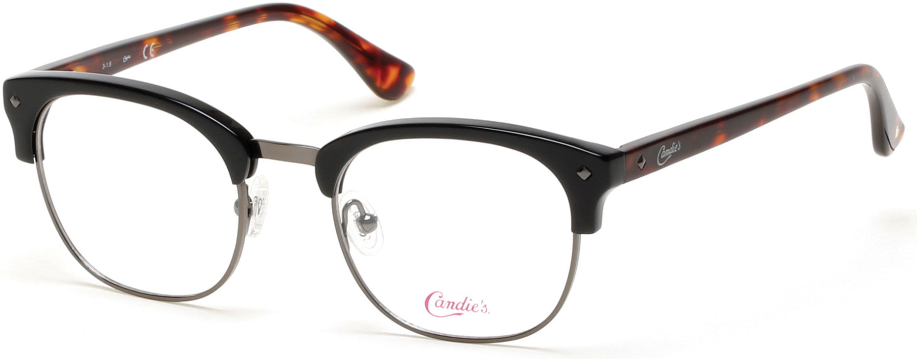 Candies CA0140 Geometric Eyeglasses 005-005 - Black/other