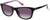 Candies CA1030 Rectangular Sunglasses 01B-01B - Shiny Black  / Gradient Smoke