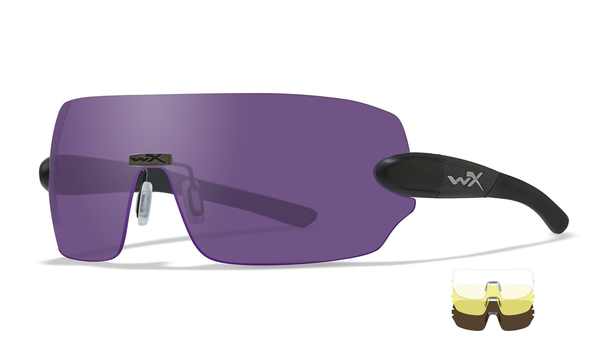 WILEY X WX Detection 3 Lens Package Sunglasses  Matte Black 00-00-00