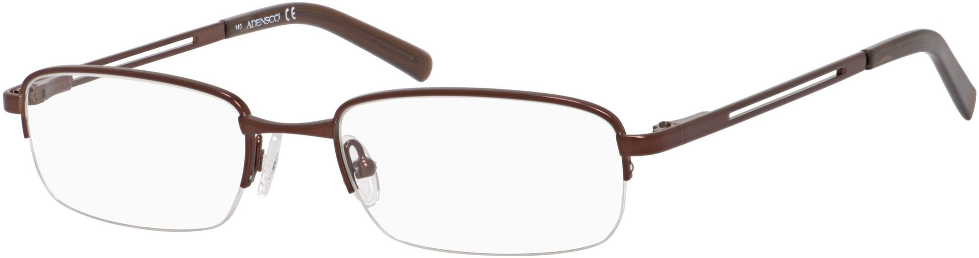 Adensco AD 104 Rectangular Eyeglasses 01D1-01D1  Brown (00 Demo Lens)