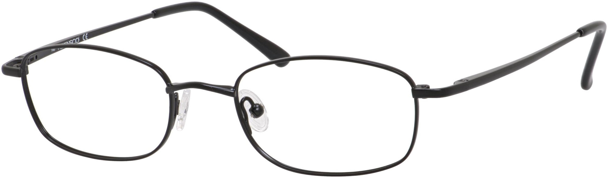 Adensco AD 106 Rectangular Eyeglasses 0003-0003  Matte Black (00 Demo Lens)