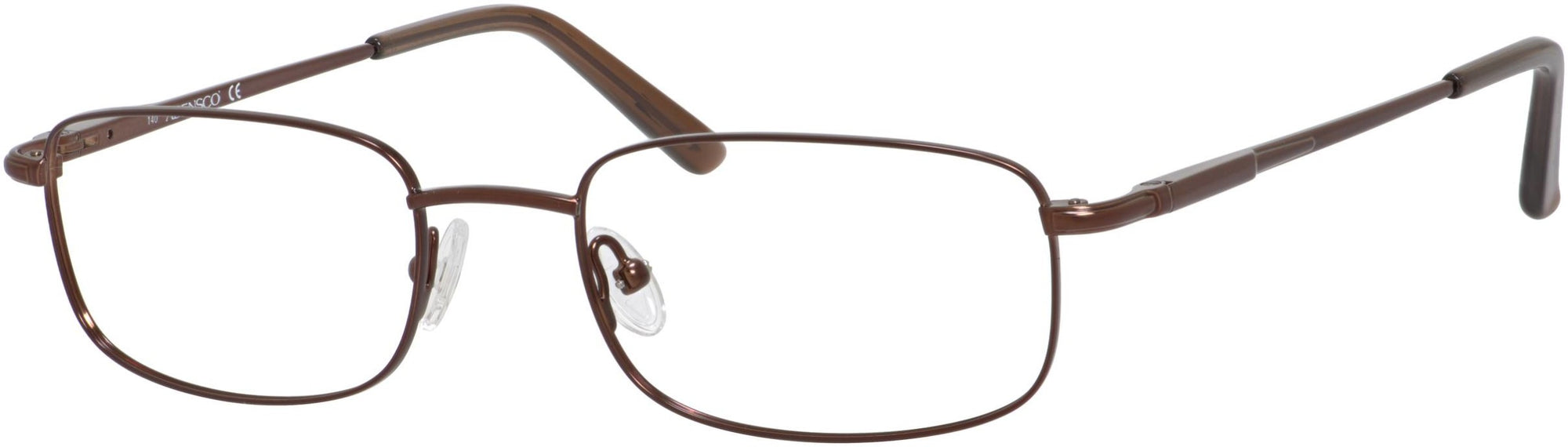 Adensco AD 108 Rectangular Eyeglasses 01D1-01D1  Brown (00 Demo Lens)
