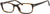 Adensco AD 109 Rectangular Eyeglasses 0086-0086  Dark Havana (00 Demo Lens)