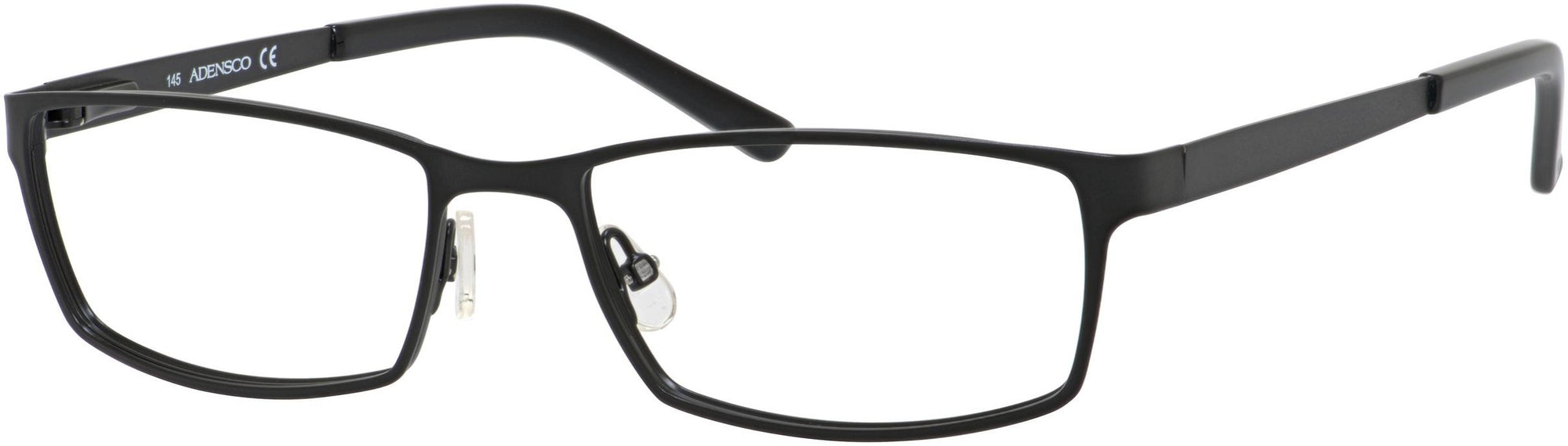 Adensco AD 111 Rectangular Eyeglasses 0003-0003  Semi Matte Black (00 Demo Lens)