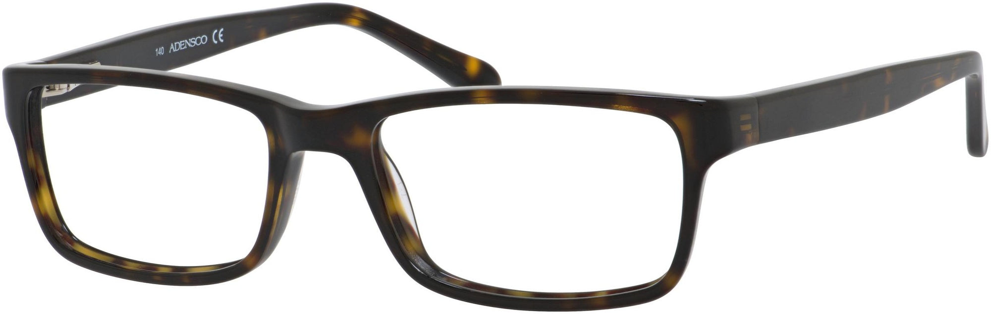 Adensco AD 112 Rectangular Eyeglasses 0086-0086  Dark Havana (00 Demo Lens)