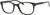 Adensco AD 114 Oval Modified Eyeglasses 0807-0807  Black (00 Demo Lens)