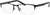 Adensco AD 115 Rectangular Eyeglasses 0003-0003  Matte Black (00 Demo Lens)