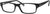 Adensco AD 116 Rectangular Eyeglasses 0807-0807  Black (00 Demo Lens)