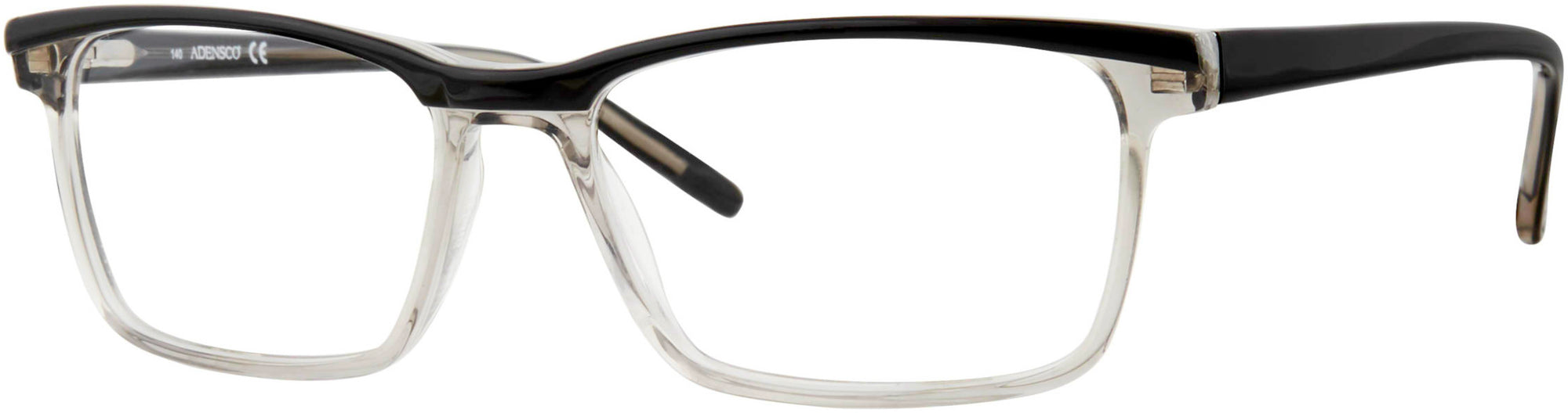 Adensco AD 119 Rectangular Eyeglasses 0EDM-0EDM  Black Gray Black (00 Demo Lens)