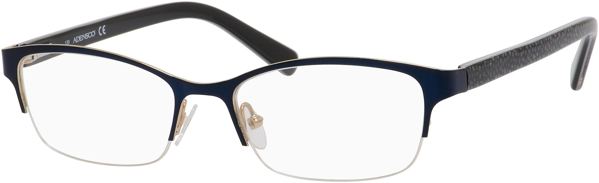 Adensco AD 200 Oval Modified Eyeglasses 0DA4-0DA4  Satin Navy (00 Demo Lens)
