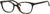 Adensco AD 204 Cat Eye/Butterfly Eyeglasses 0086-0086  Dark Havana (00 Demo Lens)