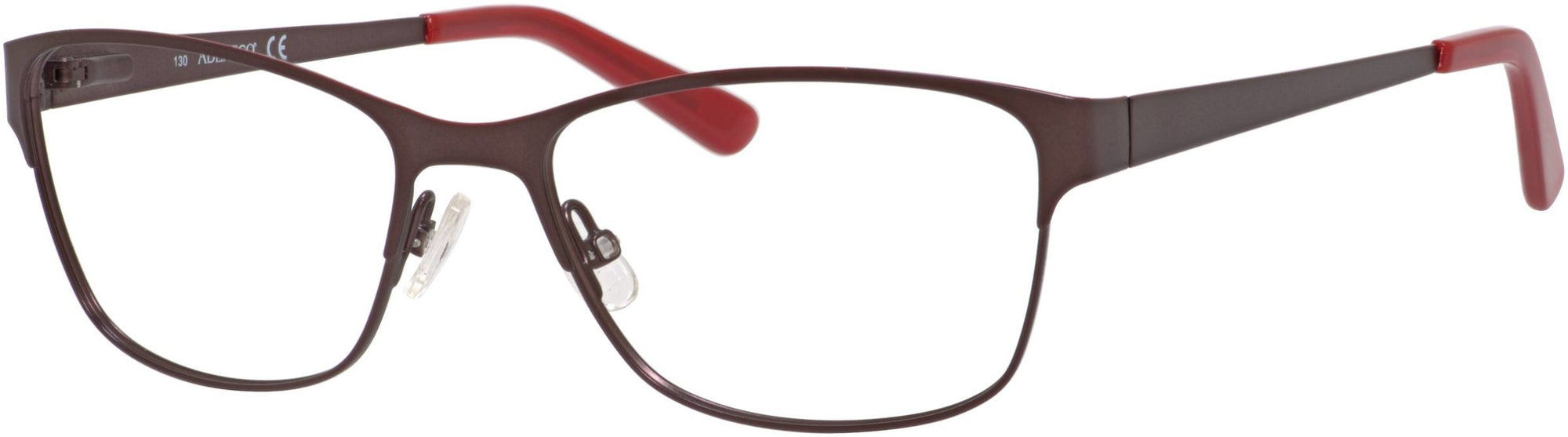 Adensco AD 205 Rectangular Eyeglasses 0ESJ-0ESJ  Brown (00 Demo Lens)
