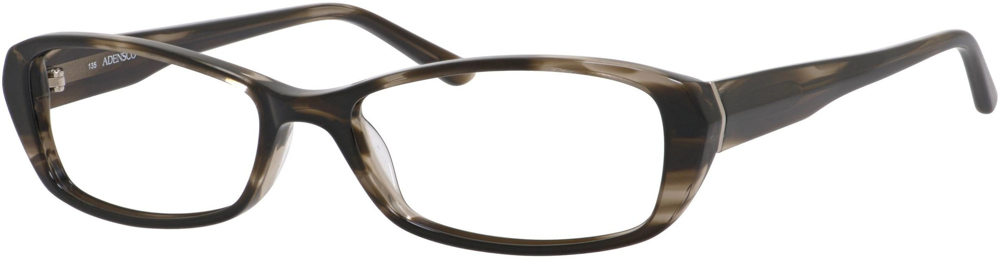 Adensco AD 206 Rectangular Eyeglasses 0CY7-0CY7  Black Striated (00 Demo Lens)