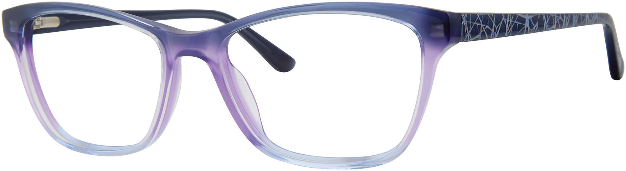 Adensco AD 225 Cat Eye/Butterfly Sunglasses 02OW-02OW  Shaded Violet (00 Demo Lens)