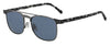 JMC Alan/S Rectangular Sunglasses 031Z-Ruthenium Havana (Back Order 2 weeks)