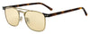 JMC Alan/S Rectangular Sunglasses 04QK-Bronze Red Havana
