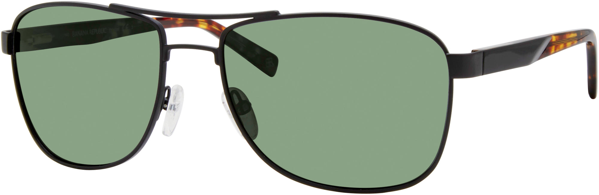 Banana Republic Axel/S Navigator Sunglasses 0003-0003  Matte Black (M9 Gray Pz)
