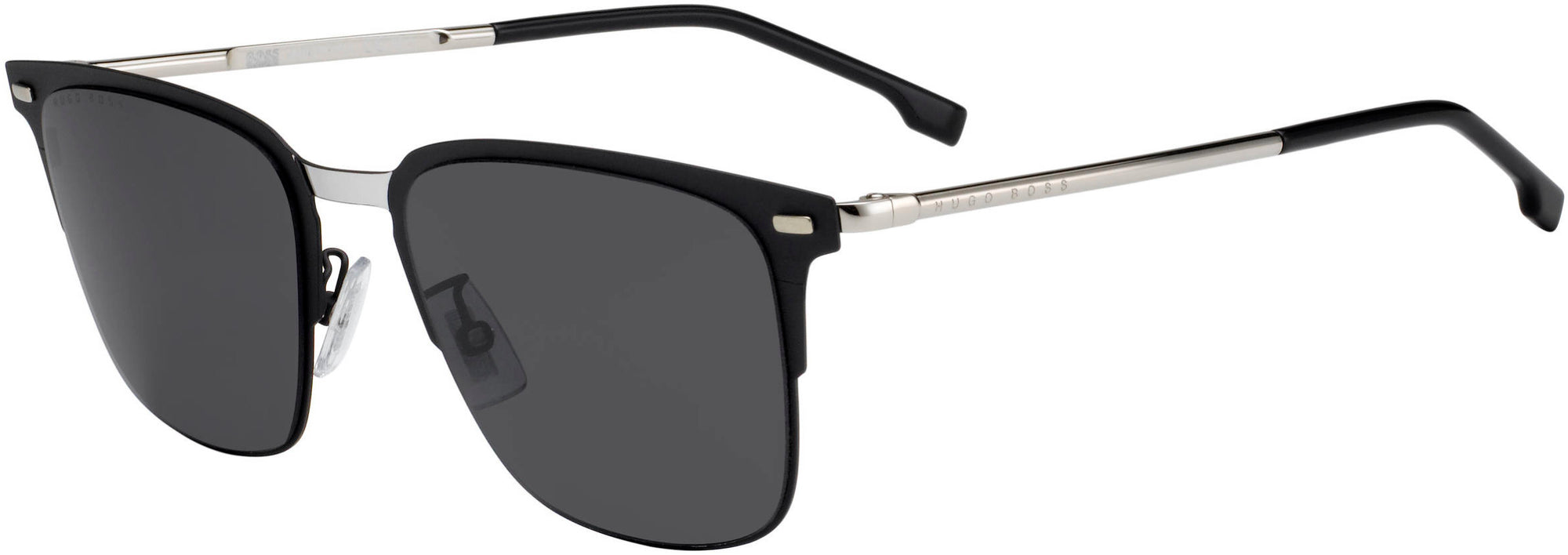 Boss (hub) BOSS 0951/F/S Square Sunglasses 0003-0003  Matte Black (IR Gray Blue)