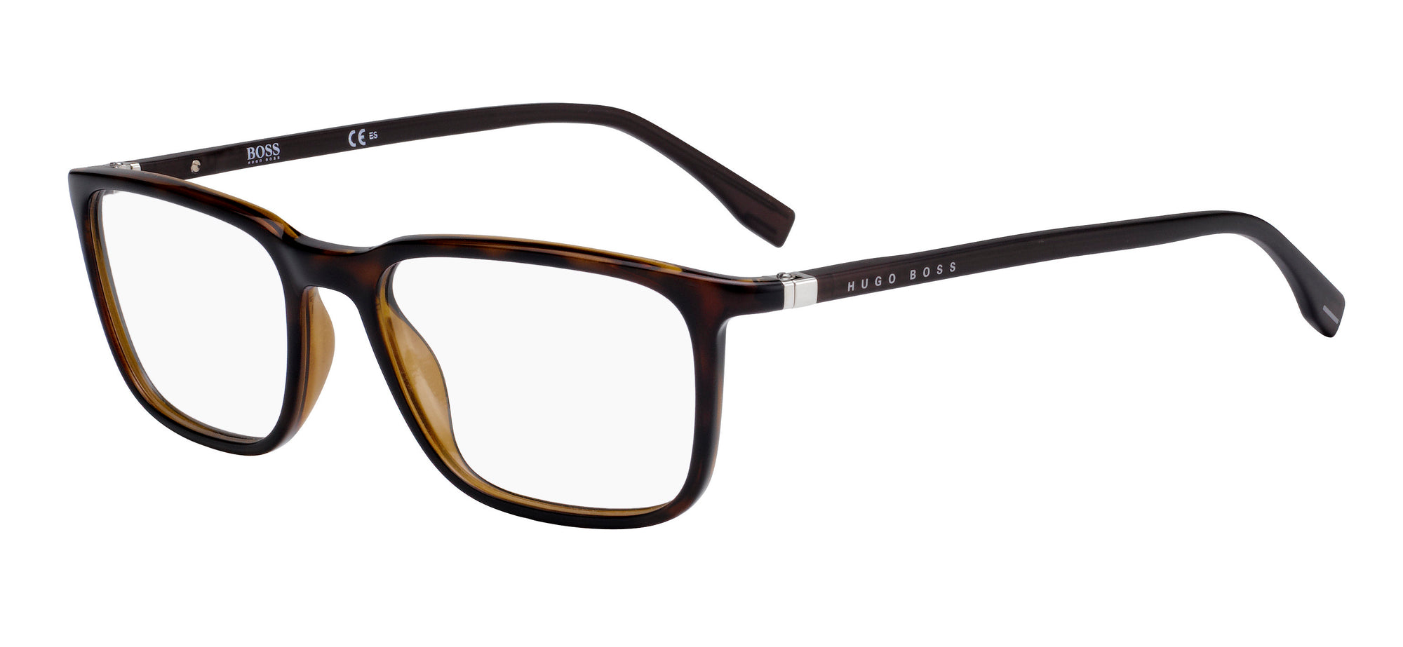 Boss (hub) Boss 0962 Square Eyeglasses 0086-0086  Dark Havana (00 Demo Lens)