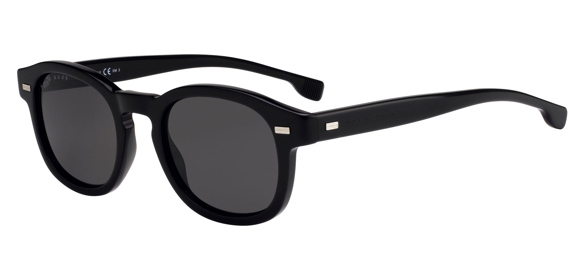 Boss (hub) Boss 0999/S Square Sunglasses 0807-0807  Black (IR Gray Blue)