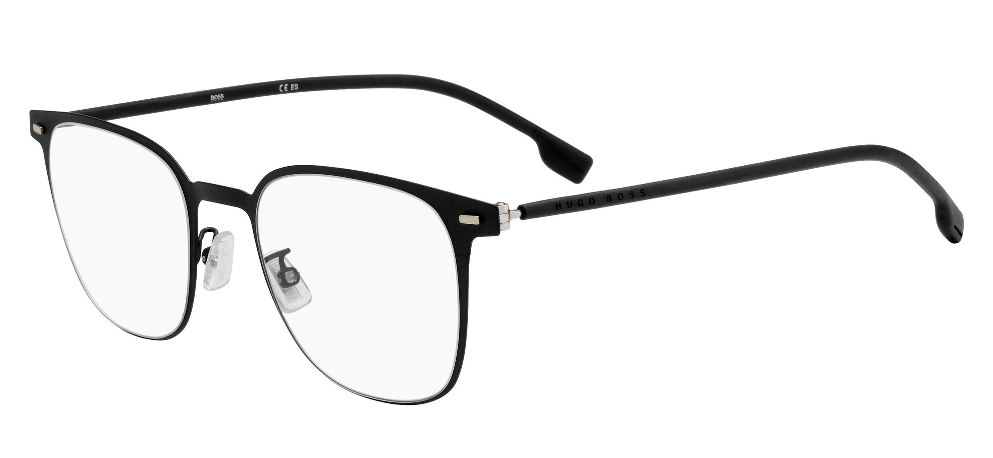 Boss (hub) Boss 1027/F Square Eyeglasses 0003-0003  Matte Black (00 Demo Lens)