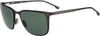 Boss (hub) Boss 1062/F/S Rectangular Sunglasses 0SVK-0SVK  Semi Matte Ruthenium Black (QT Green)