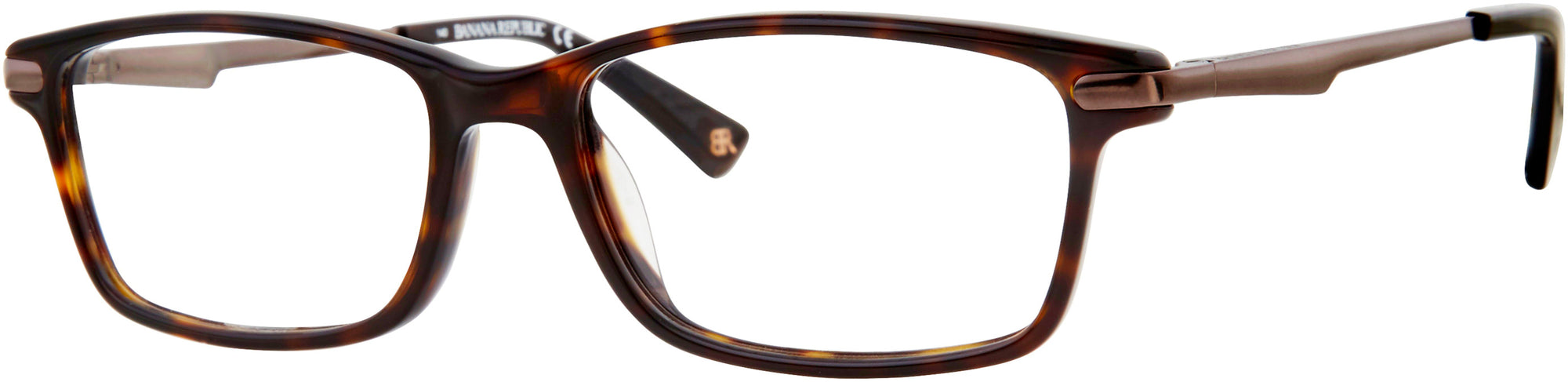 Banana Republic Bernard Rectangular Sunglasses 0086-0086  Dark Havana (00 Demo Lens)