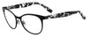 BOSS ORANGE Bo 0312 Oval Modified Eyeglasses 04NL-MTBLK WHT