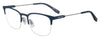 BOSS ORANGE Bo 0335 Rectangular Eyeglasses 0FLL-MTT BLUE