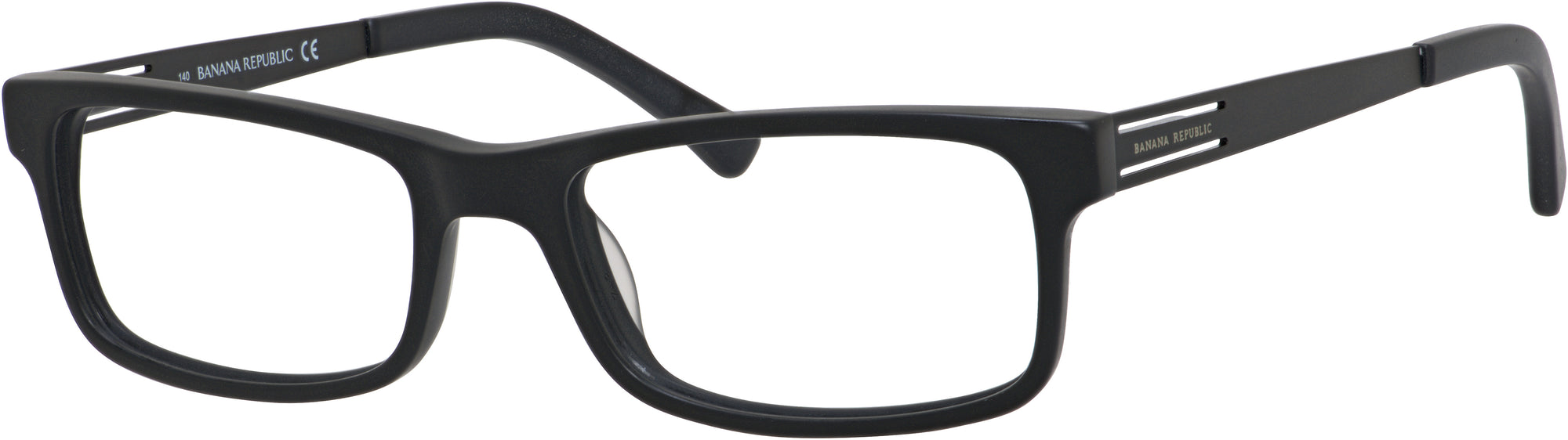 Banana Republic Boone Rectangular Sunglasses 0003-0003  Matte Black (00 Demo Lens)