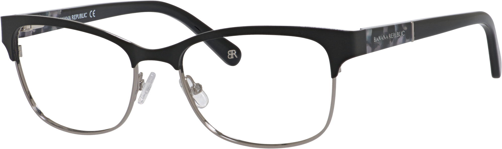 Banana Republic Burke Rectangular Sunglasses 0284-0284  Black Ruthenium (00 Demo Lens)
