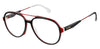 Carrera Carrera 1103/V Aviator Eyeglasses 0GUU-0GUU  Black Burgundy (00 Demo Lens)