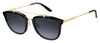 Carrera 127/S Square Sunglasses 06UB-Shiny Black Gold