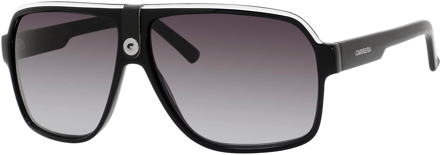 Adensco CARRERA 33/S Rectangular Sunglasses 08V6-08V6  Black Crystal Gray (9O Dark Gray Gradient)