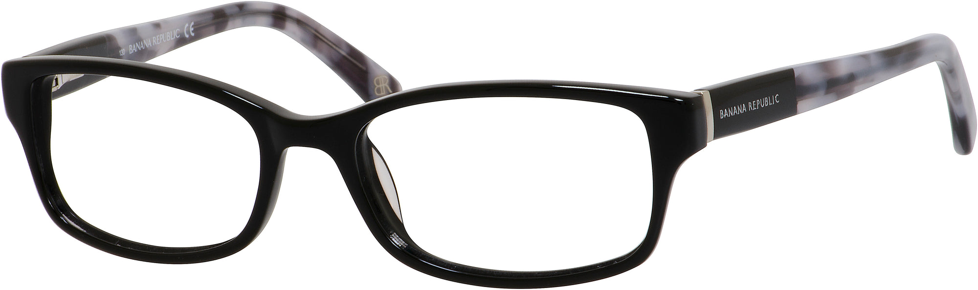 Banana Republic Cali Rectangular Sunglasses CALI-0807  Black (00 Demo Lens)