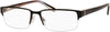 Claiborne CB 220 Rectangular Eyeglasses 0CG4-0CG4  Brown Smoke (00 Demo Lens)