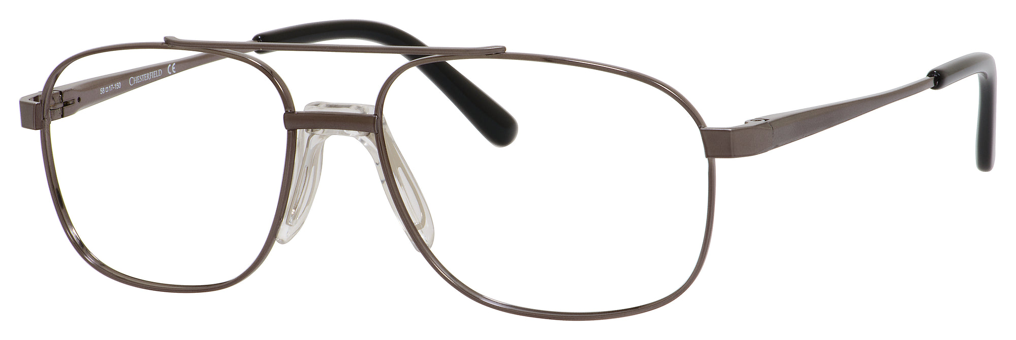 Chesterfield Chesterfield 868/T Aviator Eyeglasses 01P4-01P4  Ruthenium (00 Demo Lens)