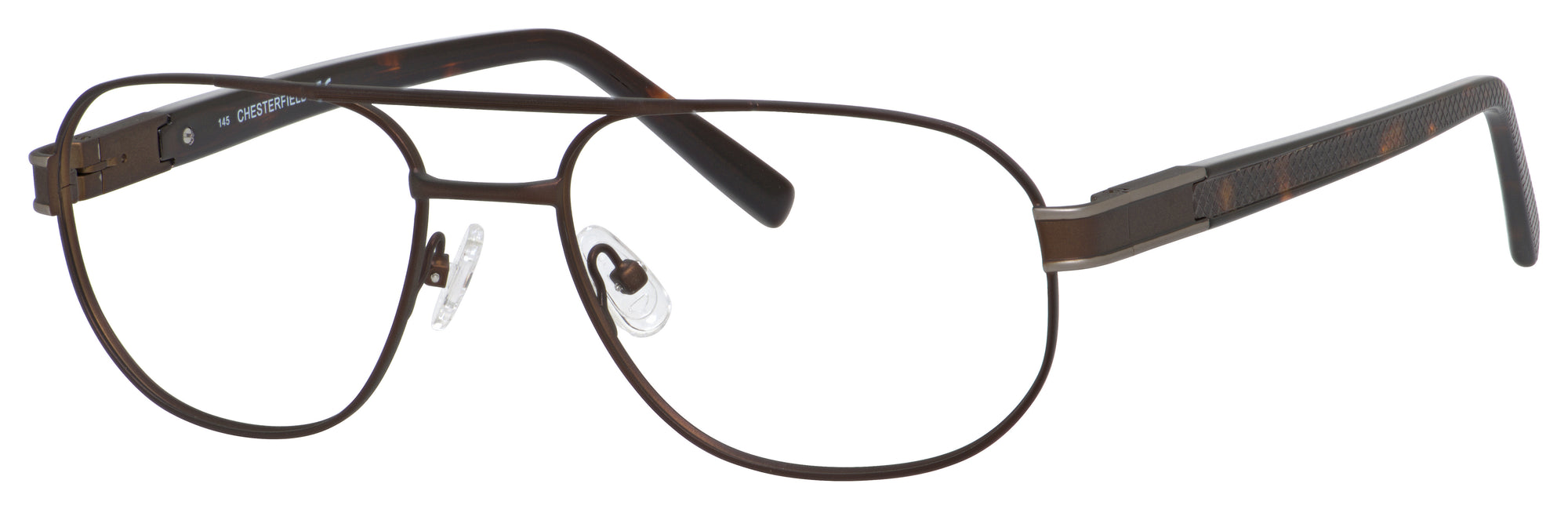 Chesterfield Chesterfield 881 Aviator Eyeglasses 0ERQ-0ERQ  Matte Dark Brown (00 Demo Lens)
