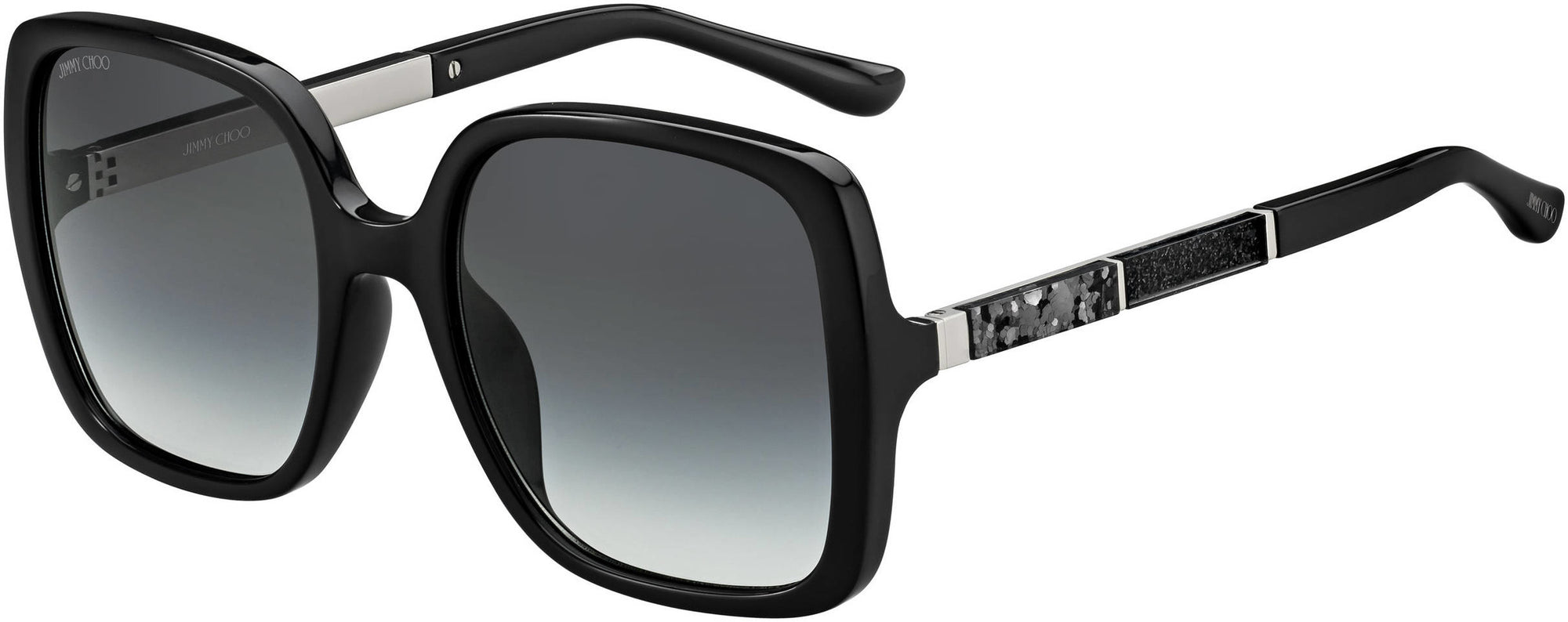Givenchy CHARI/S Square Sunglasses 0807-0807  Black (9O Dark Gray Gradient)