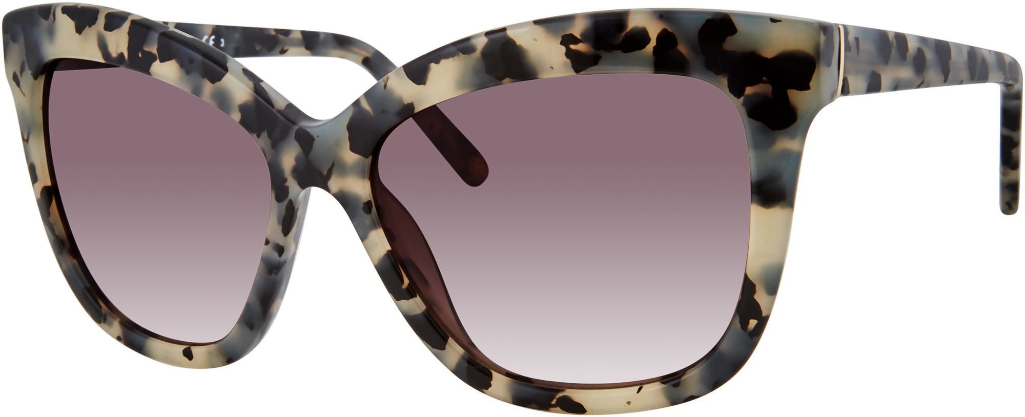 Banana Republic Daria/S Cat Eye/butterfly Sunglasses 0TCB-0TCB  White Black Spotted (3X Pink Gradient)