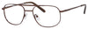 Denim Denim 133 Oval Modified Eyeglasses 01D1-01D1  Brown (00 Demo Lens)