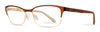 Emozioni Emozioni 4384 Cat Eye/butterfly Eyeglasses 0FG4-0FG4  Brown Gold (00 Demo Lens)