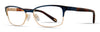 Emozioni Emozioni 4384 Cat Eye/butterfly Eyeglasses 0KY2-0KY2  Blue Gold (00 Demo Lens)
