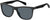 Adensco FOS 3086/S Rectangular Sunglasses 0003-0003  Matte Black (IR Gray Blue)